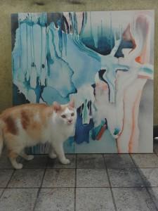 Alicja Wieczorek Genesis III z kotem_marzec 2016